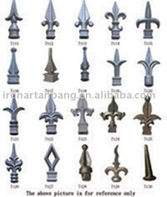 wrought iron railing tops