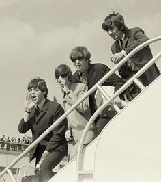 The Beatles arriving at Kennedy Airport, NYC, 21st September 1964
