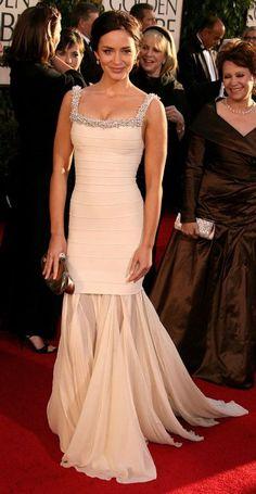 Emily Blunt in Hervé Léger (64th Golden Globe Awards)