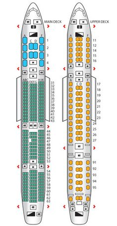 Emirates A380 Seat map. Emulate the lower deck in seating ...