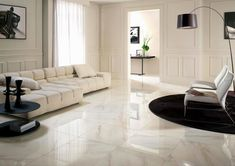 Modern Living Room With Marble Flooring Design And Also Floor Tile Designs For Rooms Images Patterns