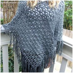 Lucille crochet poncho from Drops Design.