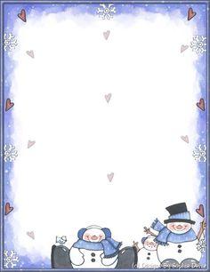 . Christmas Border, Christmas Frames, Diy Christmas Ornaments, Free Printable Stationery, Printable Paper, Diy For Kids, Crafts For Kids, Arts And Crafts, Christmas Stationery