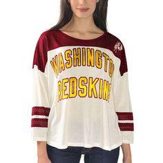 Washington Redskins Women s Hail Mary 3 4 Sleeve T-Shirt - Cream -  29.99 b42116983