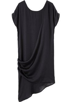 Hope / Lone Dress casual or dressy black draped dress