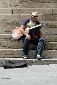 street musician, Perugia