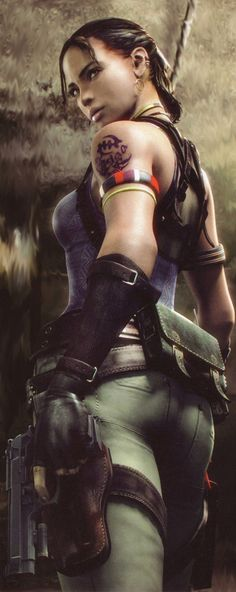 An awesome picture of Sheva Alomar drawn by Capcom them selves I had to cut out chris though lol Sheva Alomar Science Fiction, Shinji Mikami, Squid Girl, Fantasy Anime, Resident Evil Game, Evil Art, Jill Valentine, Live Action Film, Post Apocalypse
