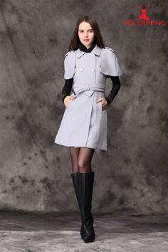 MIU MIU Dress 2013 Fashion Women Winter OverCoat Violet