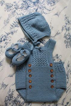 Crochet For Boys, Knitting For Kids, Baby Knitting Patterns, Crochet Onesie, Newborn Crochet, Vintage Baby Clothes, Knitted Baby Clothes, Onesie Dress, Baby Dress