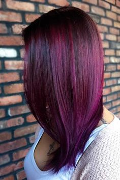 Awesome Purple Red Hair for Your Next Makeover ★ See more: http://lovehairstyles.com/awesome-purple-red-hair/