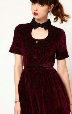9a2e9ea82d02 Samtkleid Maroon Velvet Dress
