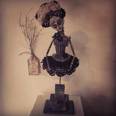 """Her"" Macabre Noir 2014 expoxy, muslin, mixed media Macabre Noir Dolls & Poppets"