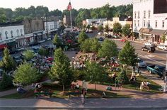 CHAGRIN-FALLS-TOWN-SQUARE, you may recognize this from Bill Watterson's watercolor paintings from Calvin and Hobbes