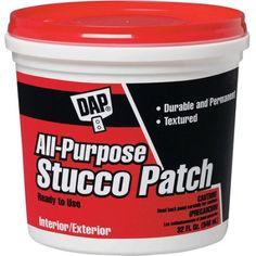 Dap 10504 1-Quart White All Purpose Stucco Patch, Multicolor