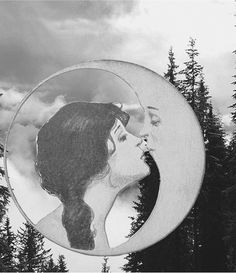 Mother nature & the man on the moon. #truelove