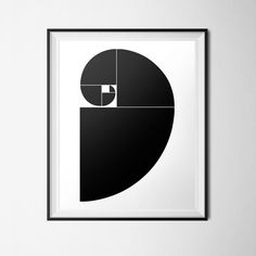 Black & White Golden Spiral - 16 x 20 Poster size ~ You are purchasing an Instant Download of my original design. ~The file is an EXTRA LARGE 16 x 20 poster size - You can also scale the file down to 8x10 or 5x7 just by changing your printer settings! ~ You will receive one (1) PDF