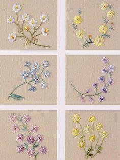 DIY bordados florais bordados à mão