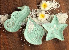 3 PCS/ SET Ceramic Plates Decorative Designer Dishes Starfish Seashell Seahorse Irregular Green Ocean Series Small Dinner Plate