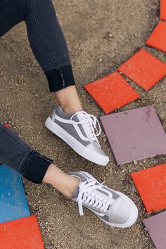 Mixing metals: add metallics and glitter materials to your Vans Customs. Design your own pair at vans.com/customs