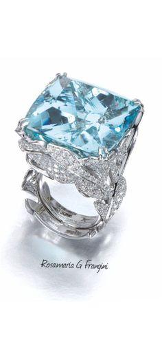 High Blue Jewellery | TJS | Aquamarine And Diamond Ring by Margherita Burgener