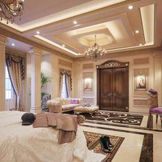 Luxury interior design, master suite bedroom, luxurious bedrooms, luxury be House Ceiling Design, Ceiling Design Living Room, Bedroom False Ceiling Design, Master Bedroom Design, Living Room Designs, House Design, Master Suite, Luxury Homes Dream Houses, Luxury Homes Interior