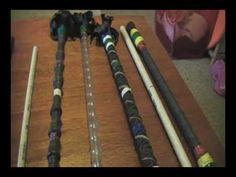 "▶ Jogglesticker presents, ""How to make your own Juggling Sticks (devil's stick, flower sticks)"" - YouTube"