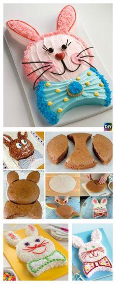 Easy DIY Easter Bunny Cake Tutorial #cake #easteridea