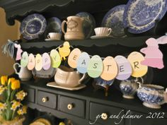 Paint Chip Easter Garland from The Everyday Home and Barb Garrett, www.everydayhomeblog.com