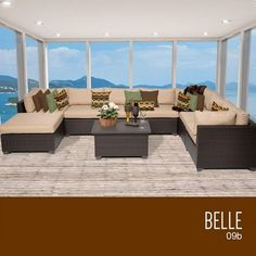 TKC Belle 9 Piece Outdoor Wicker Patio Furniture Set *** Click the swimwear to find out more