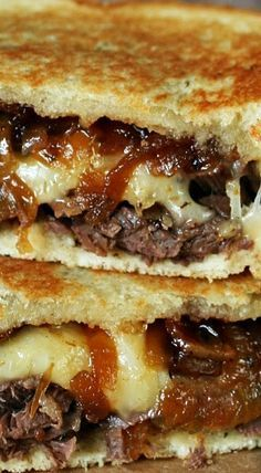 BBQ Brisket Grilled Cheese with Bacon Jam