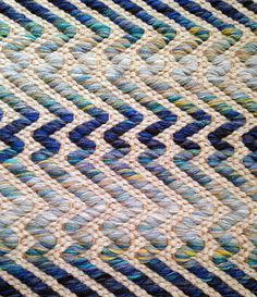 """Reflection"" Handwoven Rug. Lark Textile Design/True North Textiles."