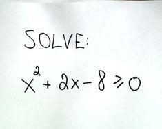 73 best mathematics images on pinterest math mathematics and algebra solving quadratic inequalities fandeluxe Choice Image