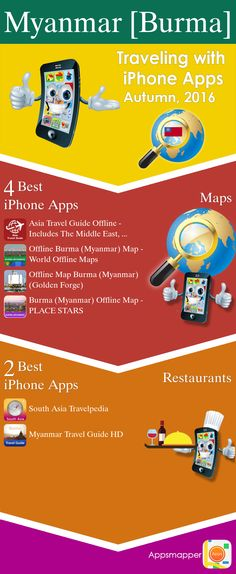 Myanmar [Burma] iPhone apps: Travel Guides, Maps, Transportation, Biking, Museums, Parking, Sport and apps for Students.