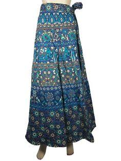 Designer Wrap Around Dresses Blue Green Elephant Print Bohemian Cotton Wrap Skirt Mogul Interior, http://www.amazon.com/dp/B009RGPDE6/ref=cm_sw_r_pi_dp_z42Fqb18P00QW