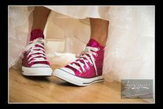Photo by Impressions Photo and Video http://impressionsphotoandvideo.com/ #NJWeddings #NJPhotographer #WeddingPhotography #Converse #Sneakers #WeddingIdeas #WeddingSneakers #Pink #Sequence