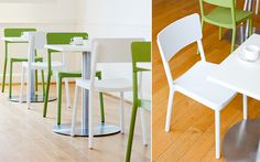 Our Event 7 & 8 chairs by Komac work perfectly in dining and breakout areas. Cafe. Bistro. Design. Hospitality. For more information please visit http://www.komac.co.uk/meeting-and-conference/p/160/desc/event/