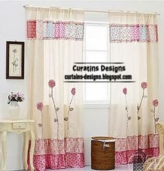 Sew chintz curtains for girls room, easy and simple