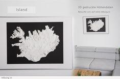 3D Druck von topografischen Höhendaten. DEM Modell Art Work, 3d Printing, Art Prints, Printed, Home Decor, Artworks, Printing, Scale Model, Artwork