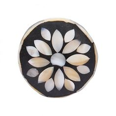 Inlaid Mother of Pearl Flower Door Knob - Home