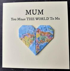 mothers day card,birthday card for mum,mothers day cards,birthday cards for mums. Diy Birthday Cards For Mom, Birthday Cards For Girlfriend, Handmade Birthday Cards, Card Birthday, Handmade Cards, Birthday Messages To Mum, Birthday Parties, 70th Birthday, Diy Cards For Mom