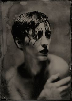 Photography, Large format in People, Portrait, Female, Calumet C1 5x7, Jena Tessar 210 mm f4.5 lens, Wet plate collodion 5x7 plexitype., 2015 All effects due to the wet plate process and camera bendings - Image #567956