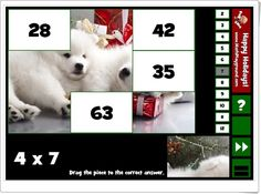 Holiday puzzle pics multiplication (Multiplicaciones de Navidad para Educación Primaria) Multiplication, Puzzles, Holiday, Maths Area, Interactive Activities, Multiplication Tables, Primary Education, Teaching Resources, Games