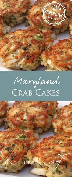 Maryland Crab Cakes with Quick Tartar Sauce #seafoodrecipes