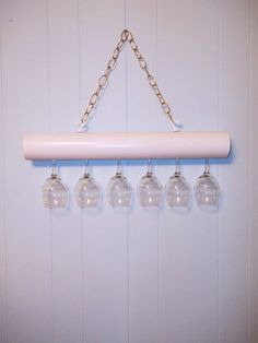 Items similar to Wine glass Shelf in white holds 6 of your favorite standard base wine glasses in cottage style on Etsy Wine Glass Shelf, Glass Shelves In Bathroom, Floating Glass Shelves, Wine Glass Holder, Bathroom Storage, Bookshelves In Bedroom, Pvc Pipe Projects, Art Deco Print, Ideas Hogar
