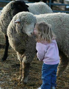 Meisje met schaap.