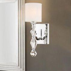 House of Hampton Caton Armed Sconce Empire Chandelier, Globe Chandelier, Globe Lights, Wall Lights, Crystal Sconce, Crystal Wall, Bathroom Light Fixtures, Bathroom Lighting, Dimmable Light Bulbs