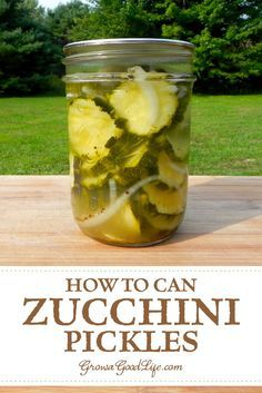 Overwhelmed with zucchini? Preserve the zucchini harvest bounty by canning zucchini with this sweet and sour zucchini pickles recipe. Canned Zucchini, Zucchini Pickles, Zucchini Squash, Types Of Zucchini, Sour Pickles, Pickles Recipe, Homemade Pickles, Home Canning Recipes, Canning Tips