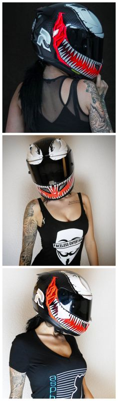 HJC Helmets Marvel Helmet  RPHA-11 Pro Venom MC-1 #HJC. @miisses_black