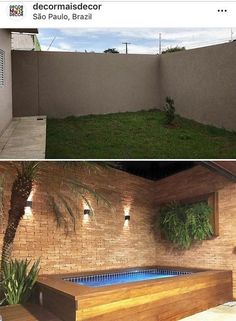 112 Amazing Small Backyard Designs With Swimming Pool Small Backyard Design, Small Backyard Pools, Backyard Pool Designs, Small Pools, Swimming Pools Backyard, Backyard Patio, Backyard Landscaping, Backyard Seating, Landscape Design
