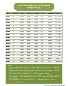 16 Week Half Marathon Training Plan {for Beginners}